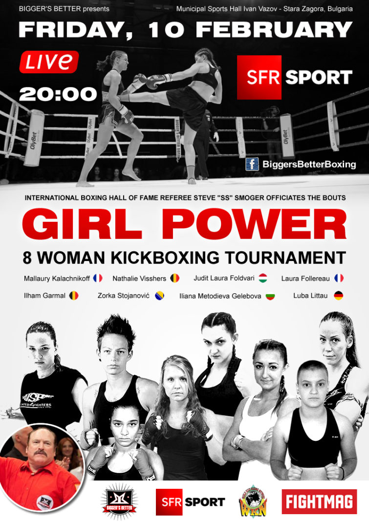 Womens kickboxing tournament live on TV