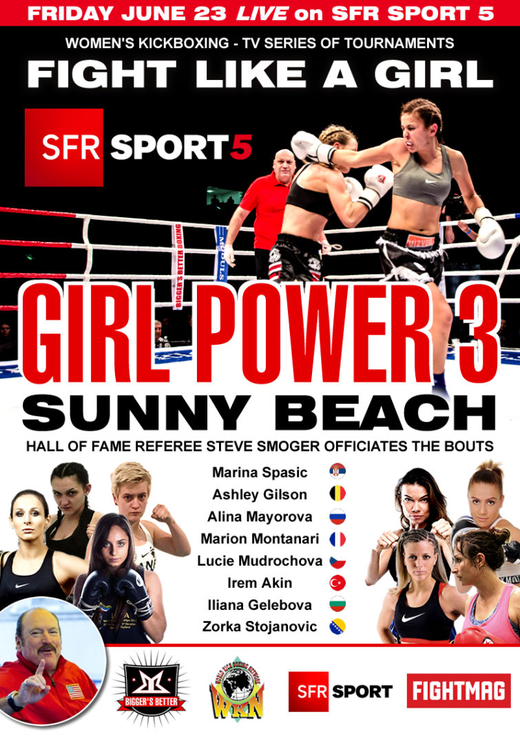 Kickboxing series Girl Power 3 Sunny Beach live on SFR Sport 5