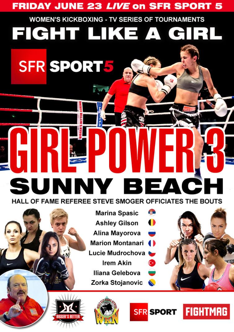 Kickboxing series Girl Power 3 Sunny Beach live on SFR Sport 5